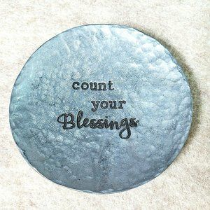 """Other - Count Your Blessings Small Engraved 2 3/8"""" Plate"""